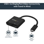 StarTech.com USB C to DisplayPort Adapter with USB Power Delivery - USB Type-C to DisplayPort for USB-C devices such as your 2018 iPad Pro - 4K 60Hz - Use this USB T