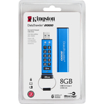 Kingston DataTraveler 2000 8 GB USB 3.1 Flash Drive - 256-bit AES