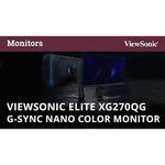Viewsonic Elite XG270QG 27And#34; WQHD 165Hz G-SYNC LED Gaming LCD Monitor - 16:9