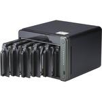 QNAP TS-653D-8G 6 x Total Bays SAN/NAS Storage System - 4 GB Flash Memory Capacity - Intel Celeron Quad-core 4 Core 2 GHz - 8 GB RAM - DDR4 SDRAM Tower - Serial AT