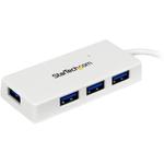 StarTech.com Portable 4 Port SuperSpeed Mini USB 3.0 Hub - White - 4 Total USB Ports - 4 USB 3.0 Ports