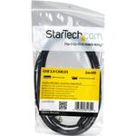 StarTech.com 2m Mini USB Cable - A to Down Angle Mini B - 1 x Type A Male USB - Black