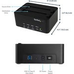 StarTech.com USB 3.0 SATA Hard Drive Duplicator Andamp; Eraser Dock - r - 2 x Total Bay - 2 x 2.5And#34;/3.5And#34; Bay