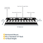 StarTech.com 1U Horizontal Finger Duct Rack Cable Management Panel with Cover - Cable Management Panel