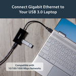 StarTech.com USB 3.0 to Gigabit Network Adapter with Built-In 2-Port USB Hub - USB 3.0 - 3 Ports - Twisted