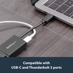 StarTech.com USB-C to VGA Adapter - 60 W USB Power Delivery - USB Type C Adapter for USB-C devices such as your 2018 iPad Pro - Black - 1080p - Thunderbolt 3 Compati