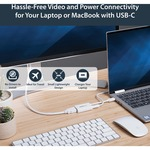 StarTech.com USB-C to HDMI Adapter with USB Power Delivery - USB Type-C to HDMI Converter for Computers with USB C - USB Type C - 4K 60Hz - Using a single USB Type-C