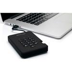 iStorage diskAshur2 1 TB Hard Drive - External - Portable - TAA Compliant - USB 3.1 - 5400rpm - 8 MB Buffer - Phantom Black - 256-bit Encryption Standard