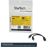 StarTech.com 3.5mm 4 Position to 2x 3 Position 3.5mm Headset Splitter Adapter - F/M