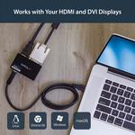 StarTech.com USB 3.0 to HDMI? and DVI Dual Monitor External Video Card Adapter - 1GB DDR2 SDRAM - USB 3.0