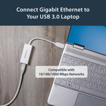 StarTech.com USB 3.0 to Gigabit Ethernet NIC Network Adapter - 1 - Twisted Pair