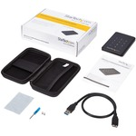 StarTech.com USB 3.0 encrypted SATA III enclosure for 2.5in hard drive - external HDD / SSD enclosure