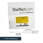 StarTech.com White USB-C to HDMI Adapter