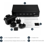 StarTech.com 4-Port DisplayPort KVM Switch - DP KVM Switch
