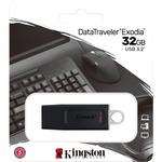 Kingston DataTraveler Exodia 32 GB USB 3.2 Gen 1 Flash Drive - Black, White - 5 Year Warranty