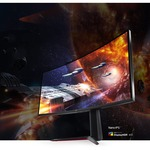 LG UltraGear 34GN850-B 34And#34; UW-QHD Curved Screen Gaming LCD Monitor - 21:9 - Black, Red