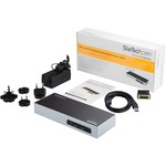 StarTech.com Dual Monitor USB 3.0 Laptop Docking Station w/ HDMI, DVI, VGA via Adapter, 6xUSB 3.0 Andamp; Audio Ports - USB Dock for Mac Andamp; Windows DK30ADD - This dual mo