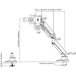 Neomounts by Newstar Neomounts Pro NM-D775BLACK Desk Mount for Flat Panel Display - Black