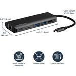StarTech.com USB-C Multiport Adapter - 2 x USB 3.0 / HDMI / SD / Gigabit Ethernet - with Power Delivery USB PD - USB C Docking Station - 2 x USB Ports - 2 x USB 3.