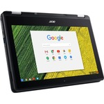 Acer Spin 11 R751TN-C0CG 29.5 cm 11.6And#34; Touchscreen 2 in 1 Chromebook - 1366 x 768 - Celeron N3350 - 4 GB RAM - 64 GB Flash Memory - Obsidian Black