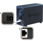 Synology DiskStation DS218play 2 x Total Bays SAN/NAS Storage System - Desktop - Realtek RTD1296 Quad-core 4 Core 1.40 GHz - 2 x HDD Supported - 28 TB Supported HD