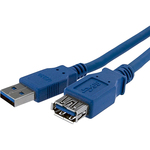 1M Blue USB 3.0 Male to Female USB 3.0 Extension Cable A to A  M/F