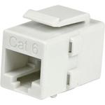 StarTech.com White Cat 6 RJ45 Keystone Jack Network Coupler - F/F - 1 x RJ-45 Female Network - White