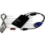 StarTech.com KVM Console to Laptop USB 2.0 Portable Crash Cart Adapter with File Transfer Andamp; Video Capture