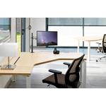 Newstar Full Motion Desk Mount clamp Andamp; grommet for 10-30And#34; Monitor Screen, Height Adjustable - Black