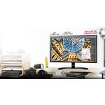 LG 24UD58-B 23.8And#34; 4K UHD LED LCD Monitor - 16:9 - Matte Black, Glossy Black
