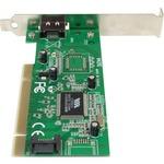 StarTech.com 1 Port eSATA plus 1 Port SATA PCI SATA Controller Card w/ LP Bracket - 1 x 7-pinFemale Serial ATA/150 External SATA