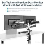 StarTech.com Dual Monitor Mount w/ Full-Motion Arms - Stackable