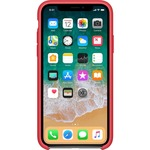 Apple Case for Apple iPhone X Smartphone - Red Raspberry