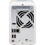 QNAP TS-251D-4G 2 x Total Bays SAN/NAS Storage System - 4 GB Flash Memory Capacity - Intel Celeron Dual-core 2 Core 2 GHz - 4 GB RAM - DDR4 SDRAM Tower - Serial AT