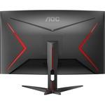 AOC CQ32G2SE 31.5And#34; WQHD Curved Screen WLED Gaming LCD Monitor - 16:9 - Black Red