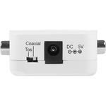 StarTech.com Two Way Digital Coax to Toslink Optical Audio Converter Repeater - 1 x RCA