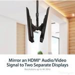 StarTech.com 4K HDMI 2-Port Video Splitter - 1x2 HDMI Splitter - Powered by USB or Power Adapter - 4K 30Hz