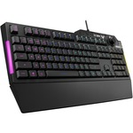 TUF K1 Gaming Keyboard - Cable Connectivity - USB 2.0 Interface - Black - Windows