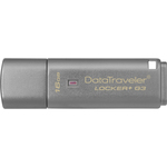 Kingston DataTraveler Lockerplus G3 16 GB USB 3.0 Flash Drive - Silver - 1 Pack