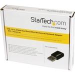 StarTech.com USB 2.0 AC600 Mini Dual Band Wireless-AC Network Adapter - 1T1R 802.11ac WiFi Adapter