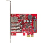StarTech.com 3 Port PCI Express USB 3.0 Card plus Gigabit Ethernet - 3 Total USB Ports