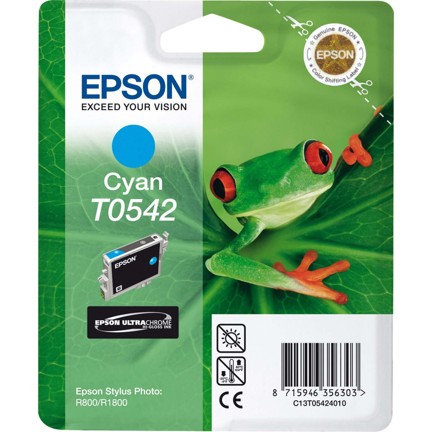 Epson UltraChrome T0542 Ink Cartridge - Cyan