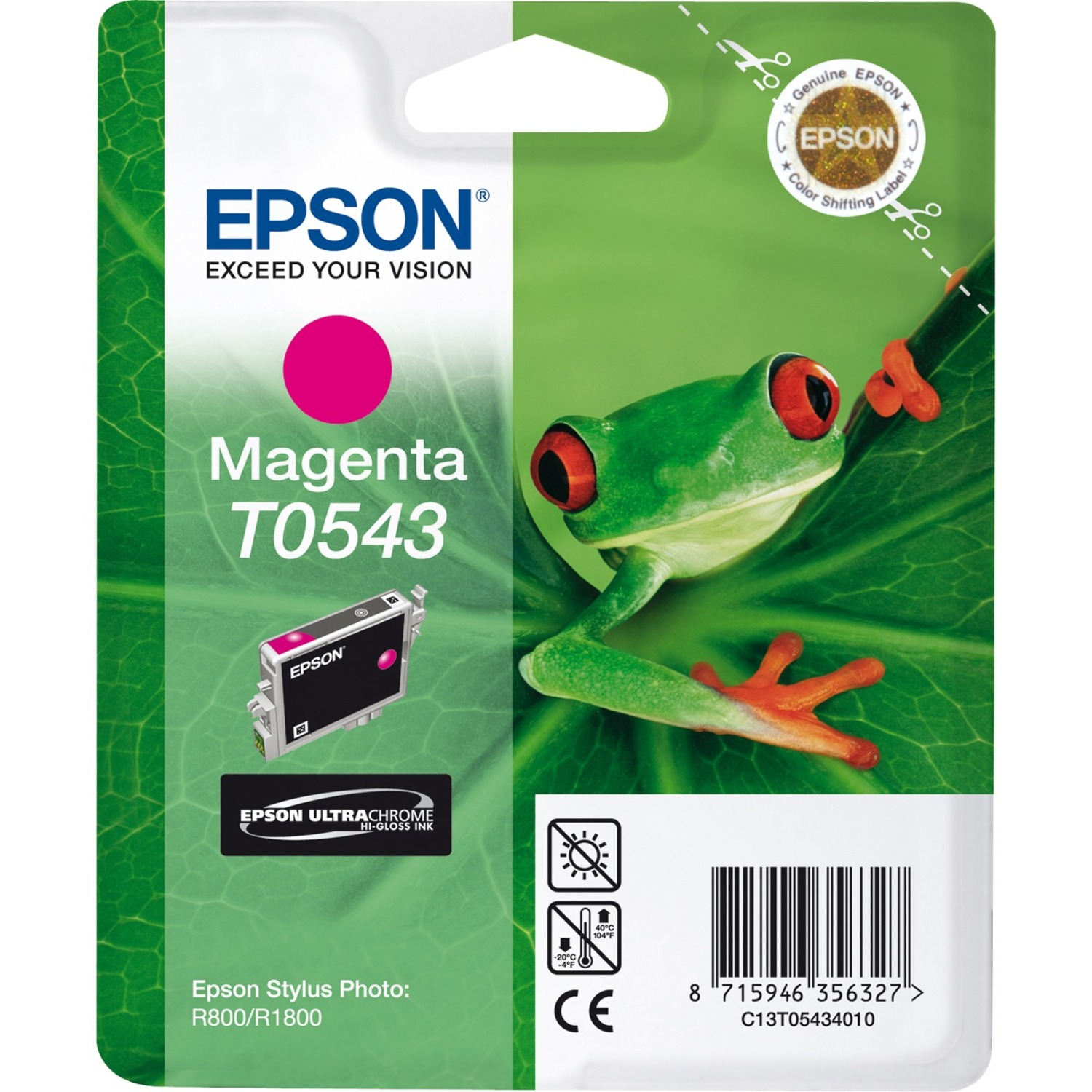 Epson UltraChrome T0543 Ink Cartridge - Magenta