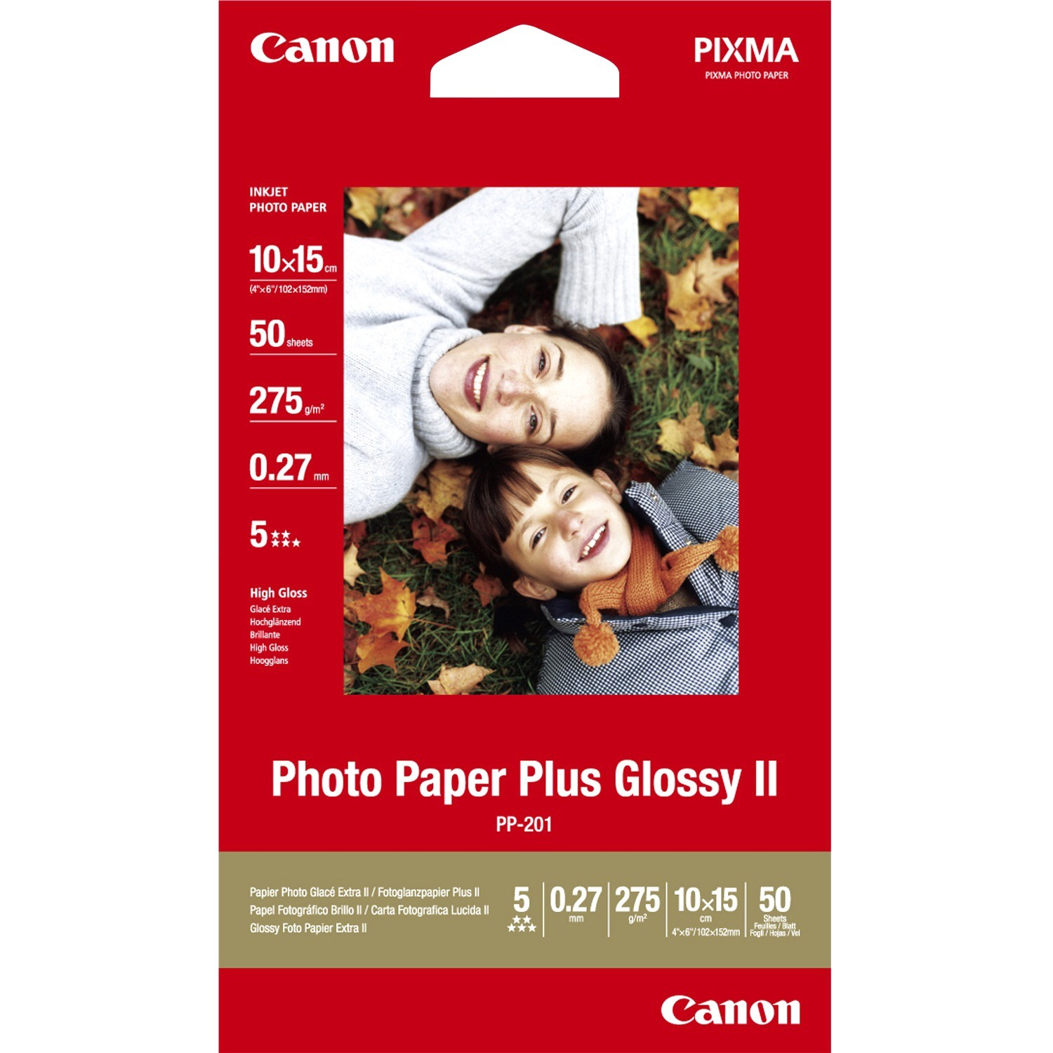 Canon Photo Paper Plus PP-201 Photo Paper - 330 mm x 457 mm - Glossy - 20 x Sheet