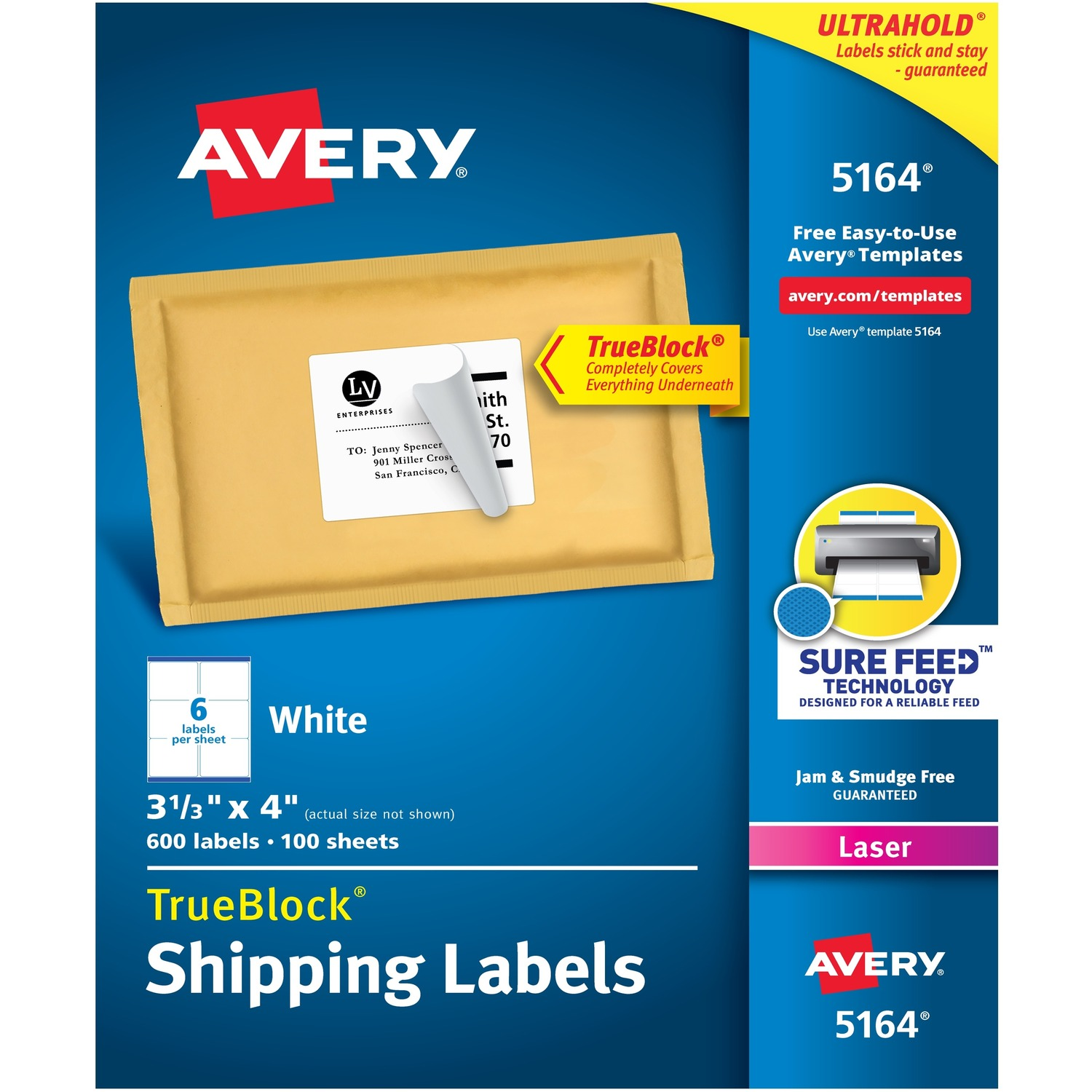 Avery mailing label madill the office company for Staples white mailing labels template