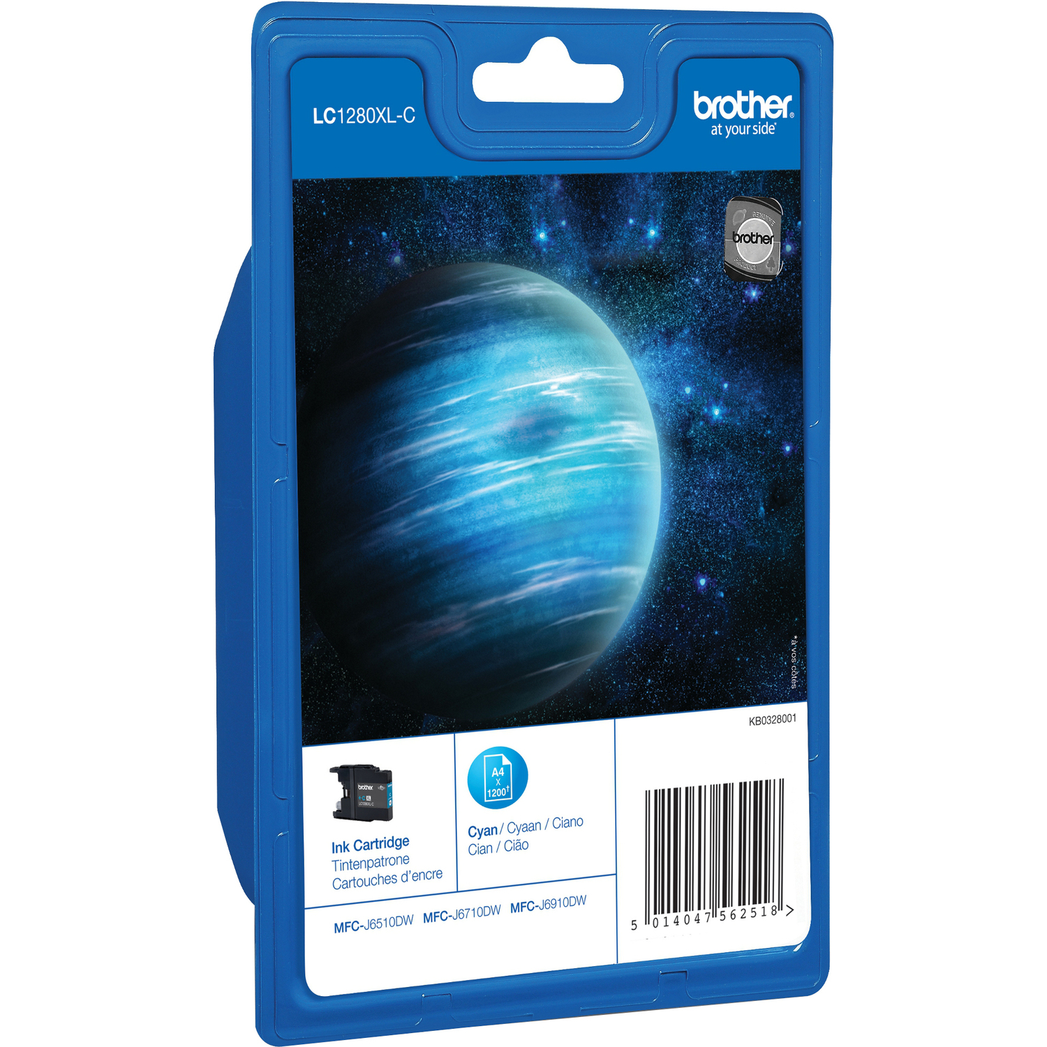 Brother LC1280XLC Ink Cartridge - Cyan