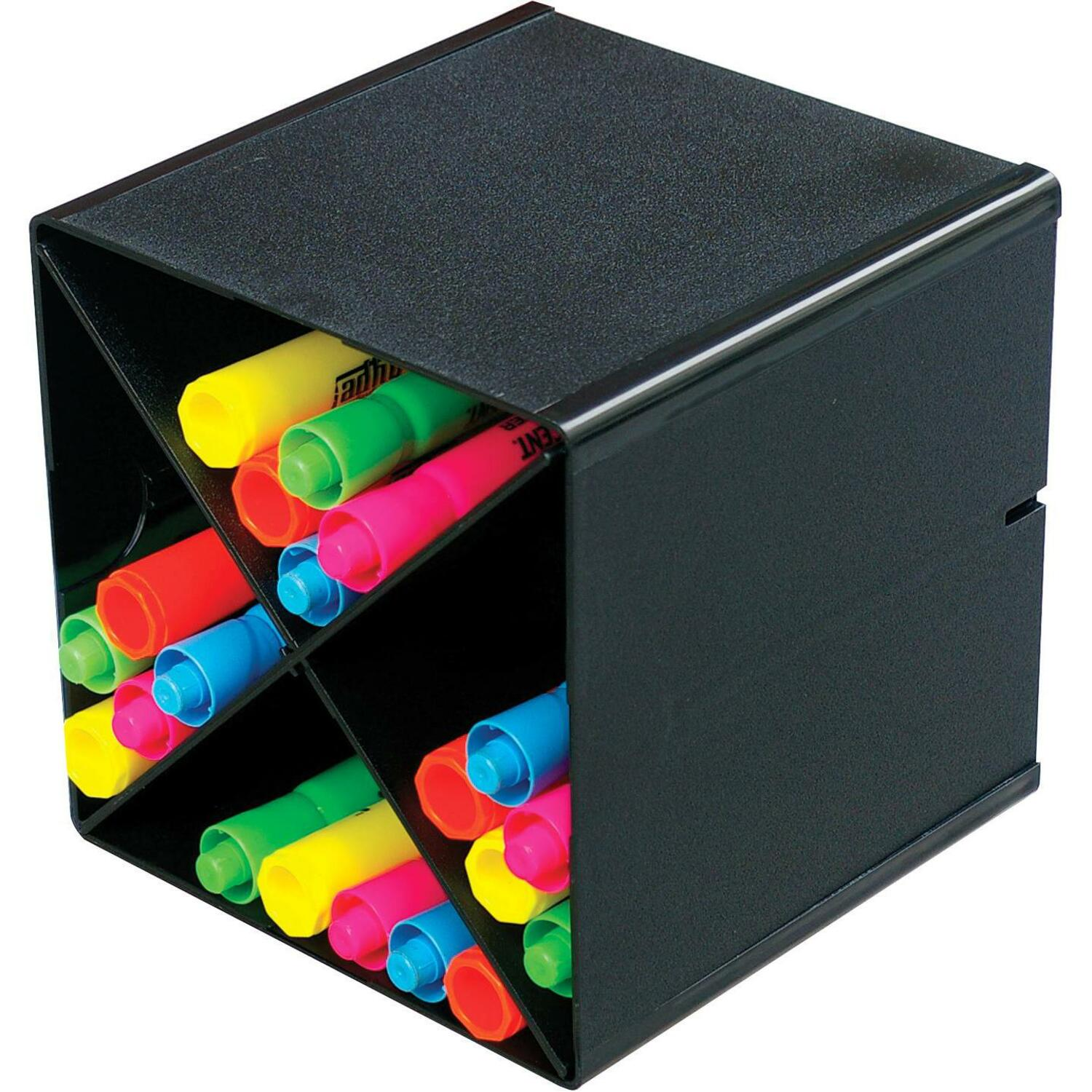Deflecto X Divider Stackable Cube Organizer 6 Height Width