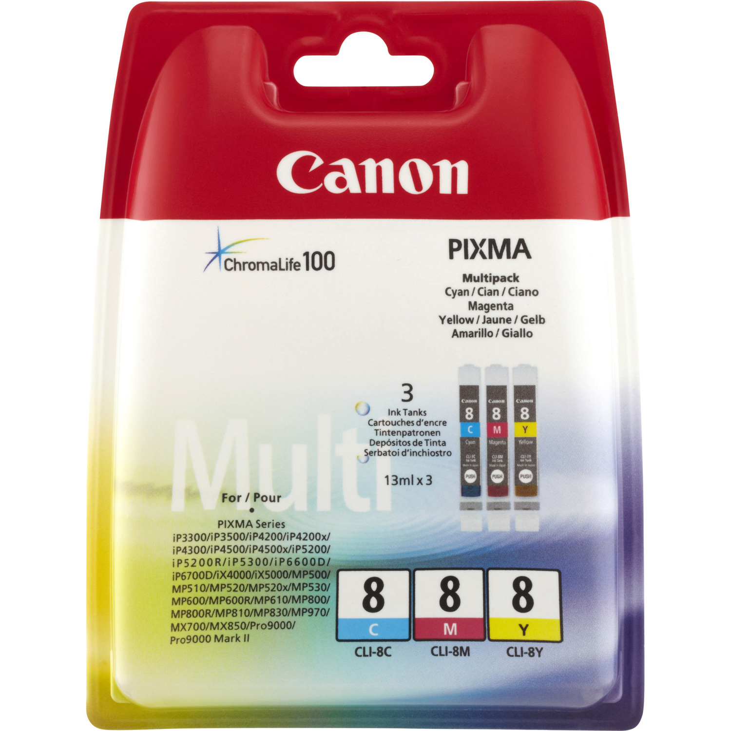 Canon CLI-8 Ink Cartridge - Cyan, Magenta, Yellow