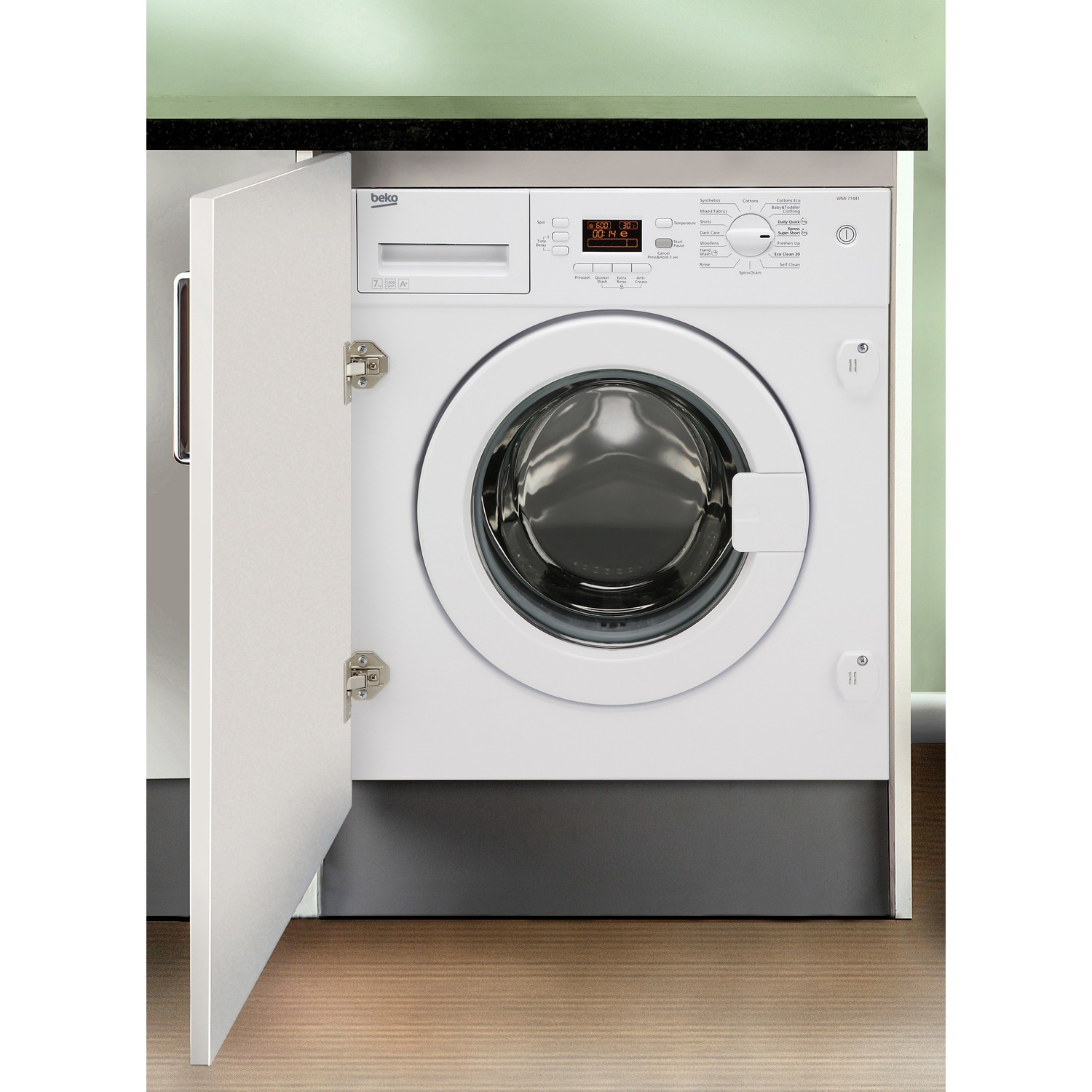 the beko wmi71441 integrated 7kg washing machine
