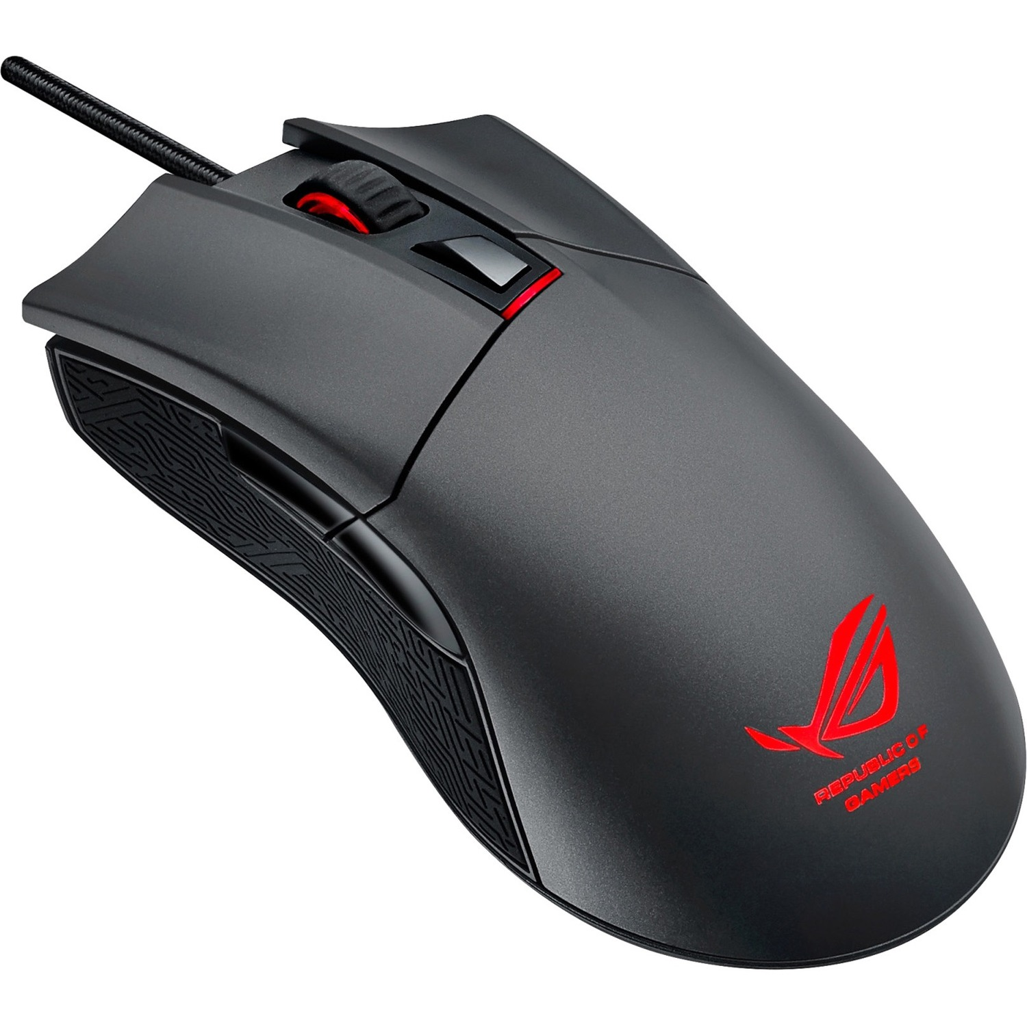 ASUS ROG Gladius Mouse - Optical - Cable - 6 Buttons - Grey - ROG Logo